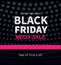 Black friday sale web banner design template vector