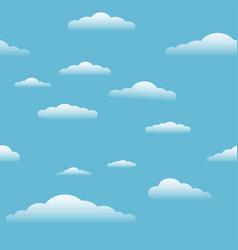 blue sky with clouds seamless vector image
