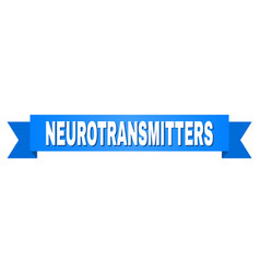 blue stripe with neurotransmitters title vector image