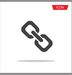 chain icon in trendy flat style connection vector image