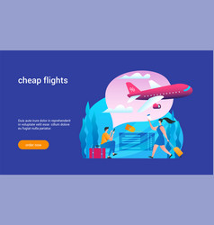 cheap flights concept 02 vector image