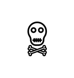 classic cross bones and skull in format vector image
