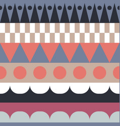 color block rows seamless pattern vector image