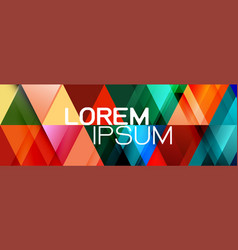 Colorful repeating triangles gradient geometric vector