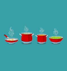 Cooking pot and pan vector