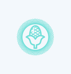 corn icon sign symbol vector image