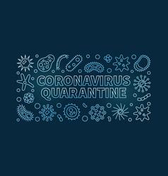 Coronavirus quarantine linear blue vector