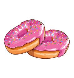 Delicious donuts icon vector