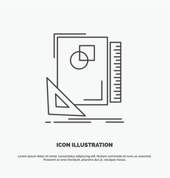 design layout page sketch sketching icon line vector image