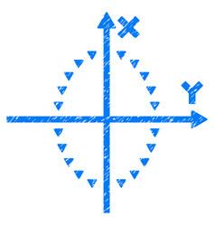 Dotted ellipse plot grunge icon vector