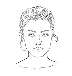 Face Chart Blank Vector Images 28