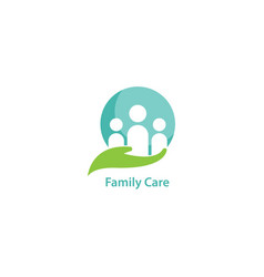 Family care and social logo vector