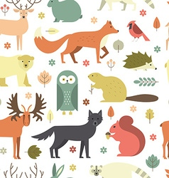 Forest Animals Seamless Pattern vector