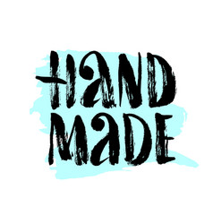 Hand made lettering vector