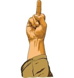 Hand showing no decent gesture vector
