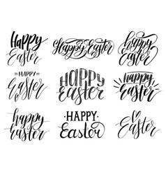 Happy easter handwritten lettering setreligious vector