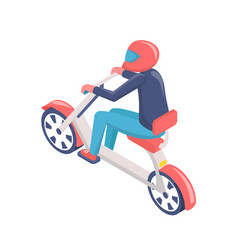 human driving eco scooter or electric bike vector image