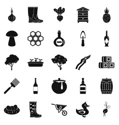 lease icons set simple style vector image