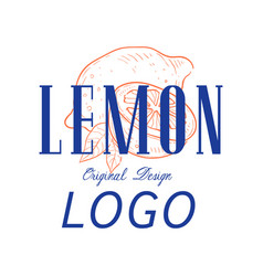 lemon logo original design retro emblem for shop vector image