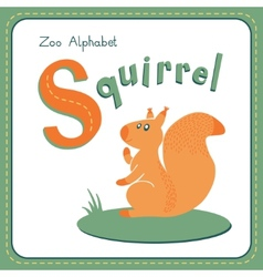 Letter s - squirrel vector