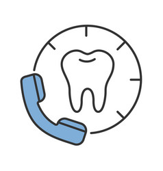 Making appointment with dentist color icon vector