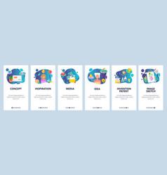 mobile app onboarding screens creative idea vector image