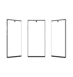 modern frameless smartphones mockups isolated vector image