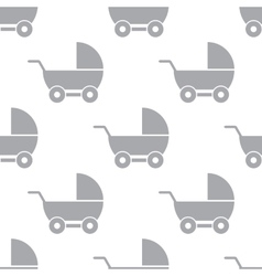 New Baby carriage seamless pattern vector image