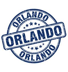 Orlando blue grunge round vintage rubber stamp vector