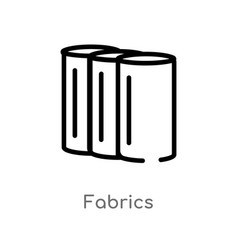 Outline fabrics icon isolated black simple line vector