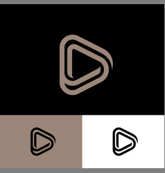 Player audio music video emblem triangle vector