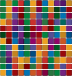 polychromatic mosaic vector image