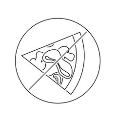 prohibited pizza icon vector image