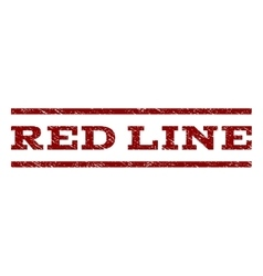 Red Line Watermark Stamp vector image