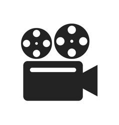 Retro camera glyph icon vector