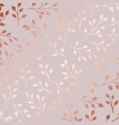 rose gold elegant decorative floral pattern vector image