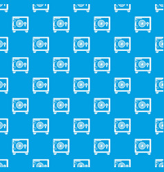 safe pattern seamless blue vector image