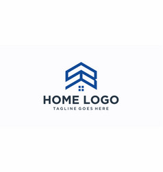 sb home logo design inspiration vector image