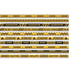 security warning tapes with typography set vector image