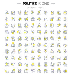 Set line icons politics vector