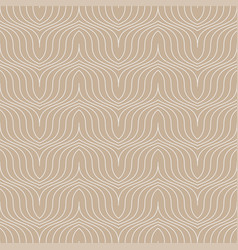 simple seamless curve outline pattern vector image