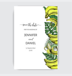 sketch invitation for wedding day hand vector image