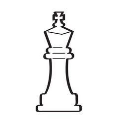 Sketch of a king chess piece vector