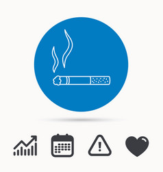 smoking allowed icon yes smoke sign vector image