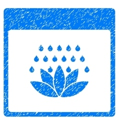 Spa Shower Calendar Page Grainy Texture Icon vector