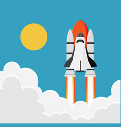 space shuttle launch into the sky new business vector image