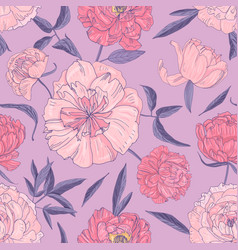 stylish seamless pattern with beautiful blooming vector image