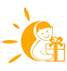 Symbol children happiness vector
