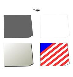 Tioga map icon set vector