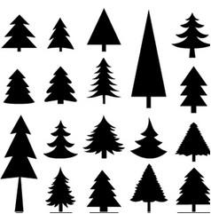 tree christmas icon vector image